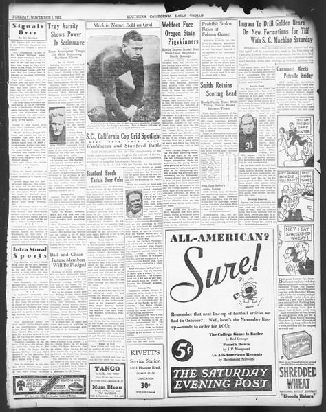 Daily Trojan, Vol. 24, No. 37, November 01, 1932