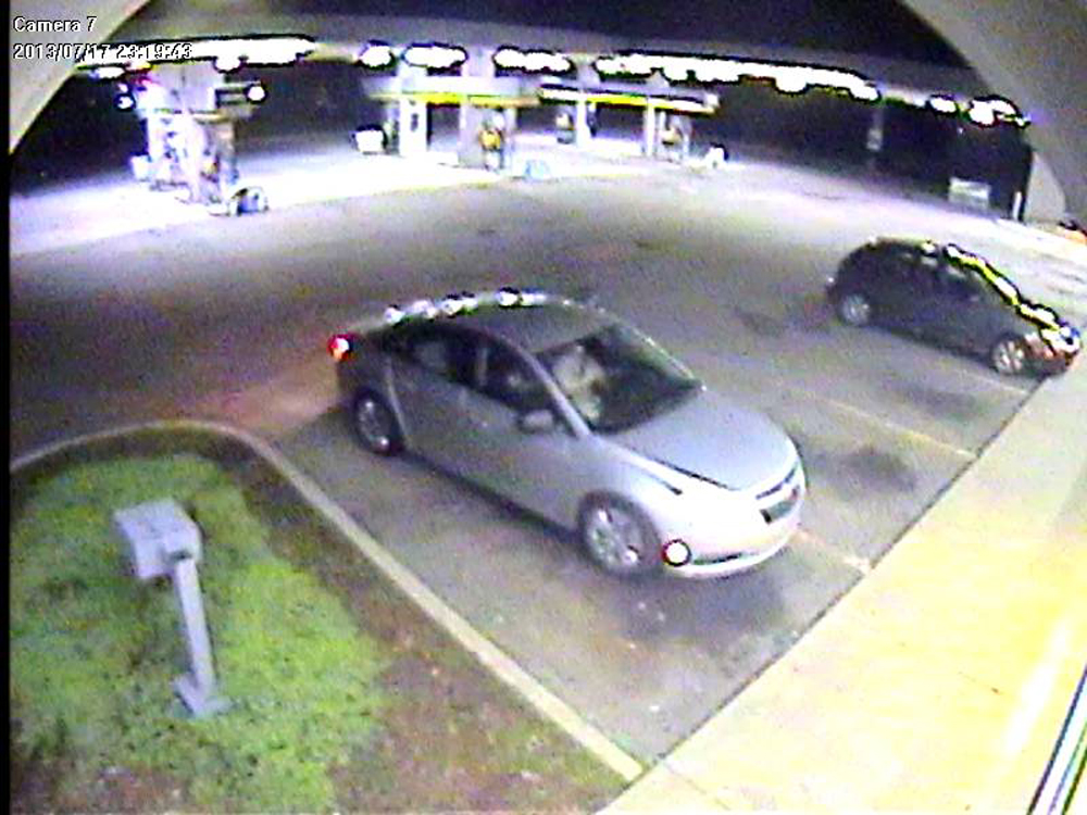 Description of . Oakland County Sheriff's Office Detectives from the Independence Township Substation are seeking information on suspects in multiple gas station armed robberies which occurred on July 17, 2013. The Shell Gas Station at I-75 and Sashabaw Road was robbed at 11:20 pm. A silver four door Chevrolet Cruise or Malibu pulled into a parking lot with three occupants. The first suspect enters the gas station and proceeds directly to the bathroom. The second suspect walks immediately to the register and pulls up his shirt and shows the cashier a hand gun. He then puts his hand on the gun and demands money from the clerk. Both suspects then leave together and are driven by a third unknown suspect. They traveled South on Sashabaw Road and approximately 20 minutes later suspect 2 robbed a Mobil gas station in Waterford.