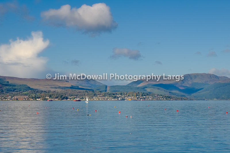 Looking over to Dunoon from Gourock Scotland.