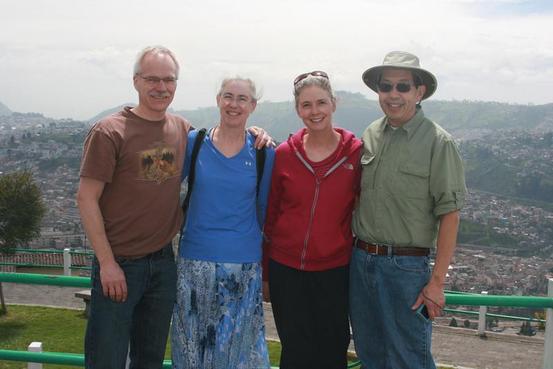 Sheldon & Mitzi, Sheri & Harvey in Quito