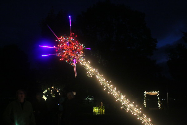 Light Sculpture Garden, Pentangle 2016