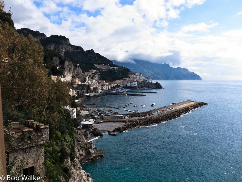 View of Amalfi- walking from our hotel to the city center