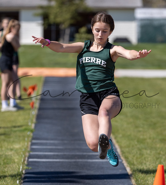 Middle School Track in Huron - May 10 2021