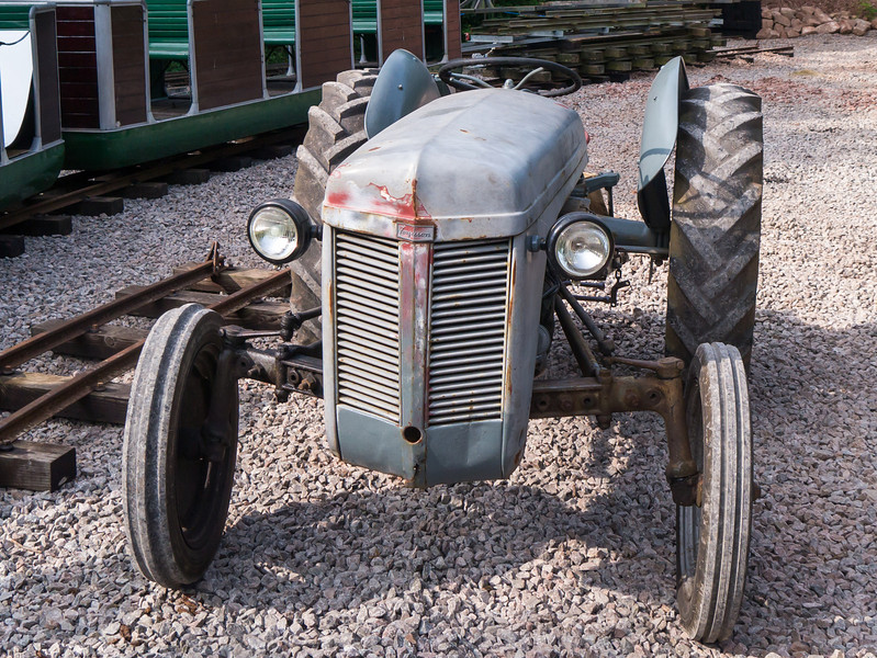 A tractor in the top station