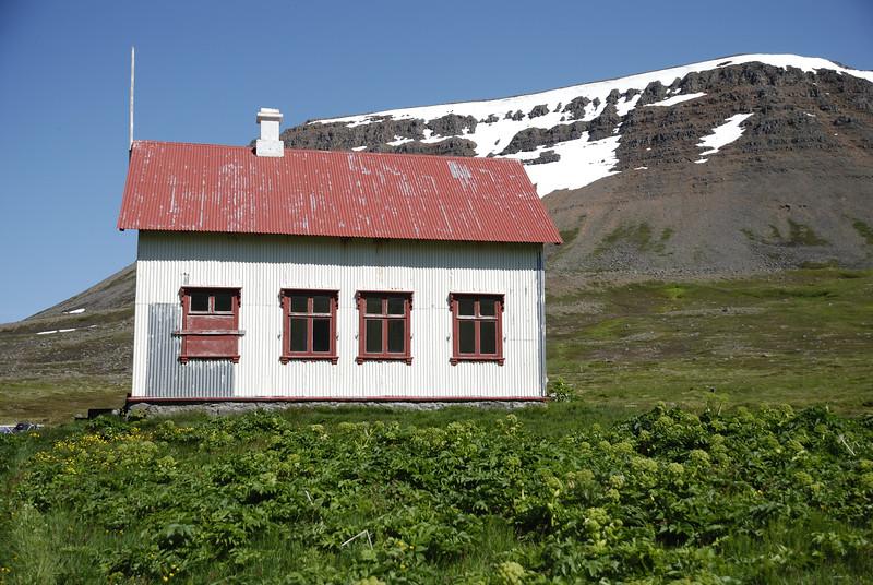 Aðalvík - Staður. Prestbústaðurinn 2014.