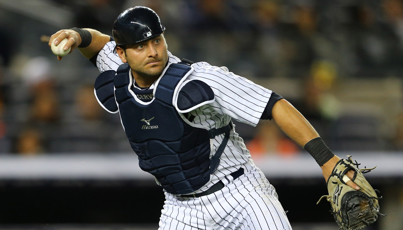 . Francisco Cervelli, catcher, New York Yankees.  (Photo by Al Bello/Getty Images)
