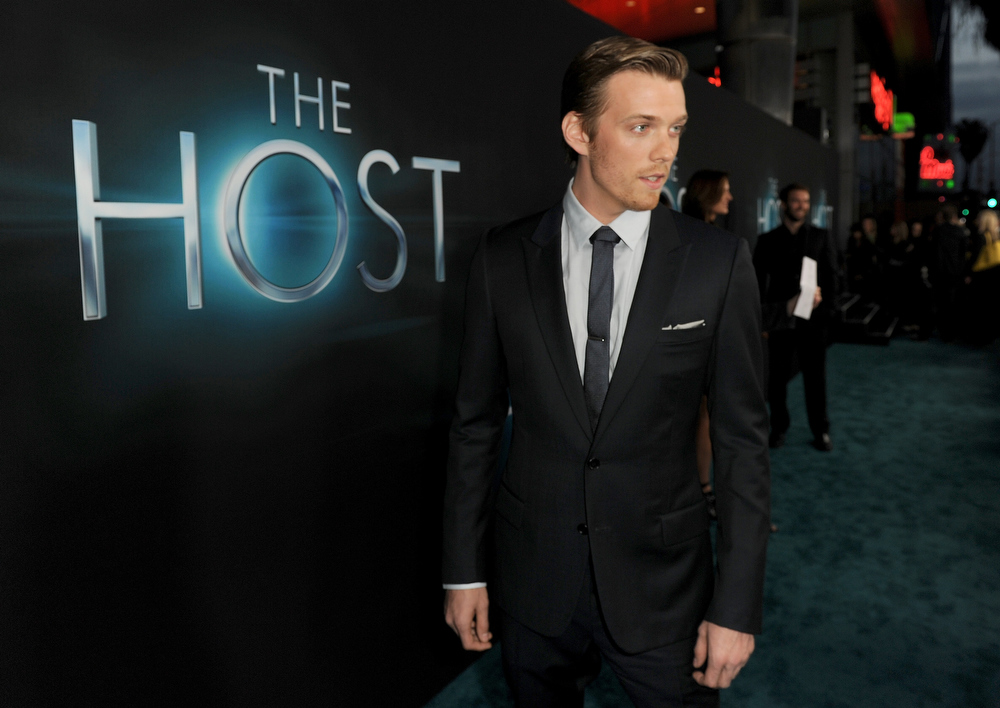 """. Actor Jake Abel attends the premiere of Open Road Films \""""The Host\"""" at ArcLight Cinemas Cinerama Dome on March 19, 2013 in Hollywood, California.  (Photo by Kevin Winter/Getty Images)"""