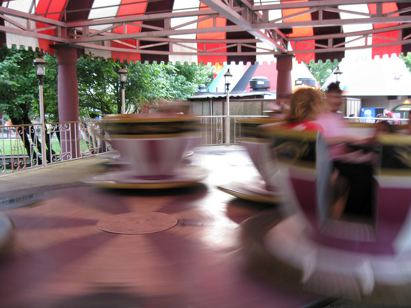 Crazy Cups in motion.