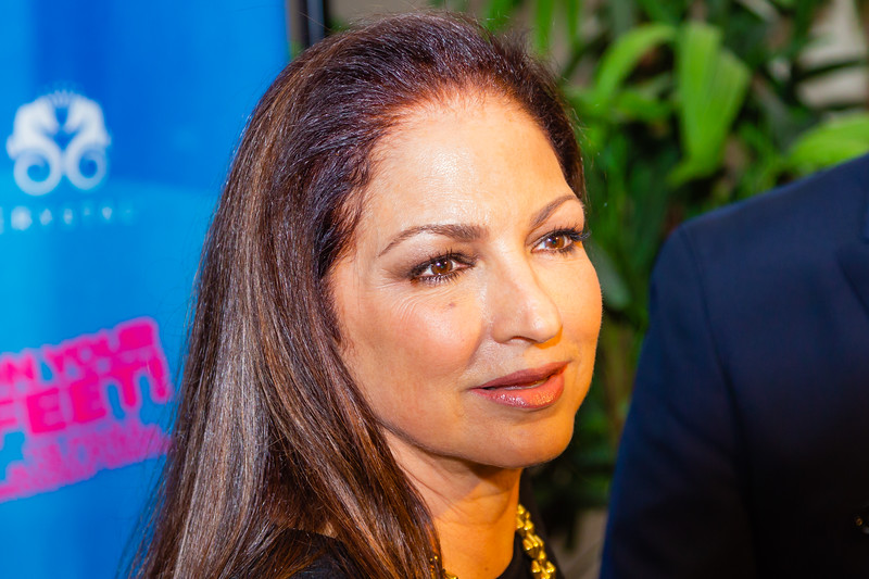 """Gloria Estefan talks to the media before the opening of the musical """"ON YOUR FEET!"""" (The story of Emilio and Gloria Estefan) at the Kravis Center in West Palm Beach on Tuesday, January 8, 2019. [JOSEPH FORZANO/palmbeachdailynews.com]"""