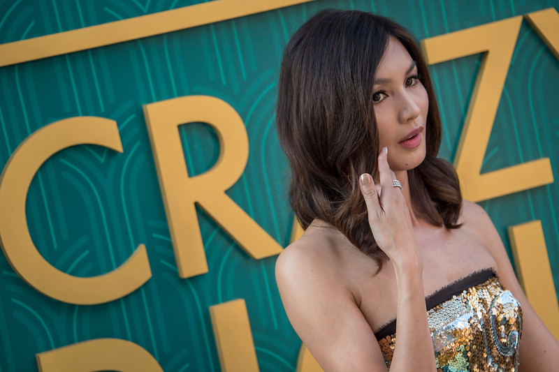 HOLLYWOOD, CA - AUGUST 07: Gemma Chan arrives at Warner Bros. Pictures' 'Crazy Rich Asians' Premiere at TCL Chinese Theatre IMAX on Tuesday, August 7, 2018 in Hollywood, California. (Photo by Tom Sorensen/Moovieboy Pictures)