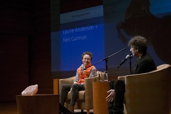 Laurie Anderson + Neil Gaiman, Rachel Dratch Intro