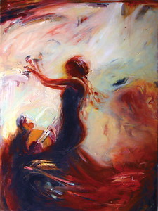 """Flamenco V"" (oil on canvas) by Janey Fritsche"