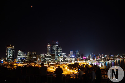 Perth City nigh skyline