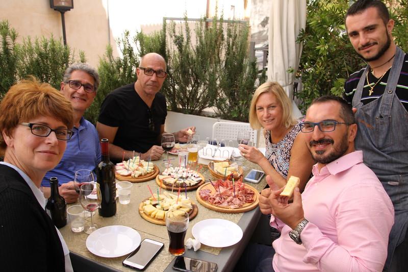 Lunch at salumeria in Ragusa