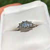 1.15ctw Emerald Cut Diamond Trilogy Ring 21