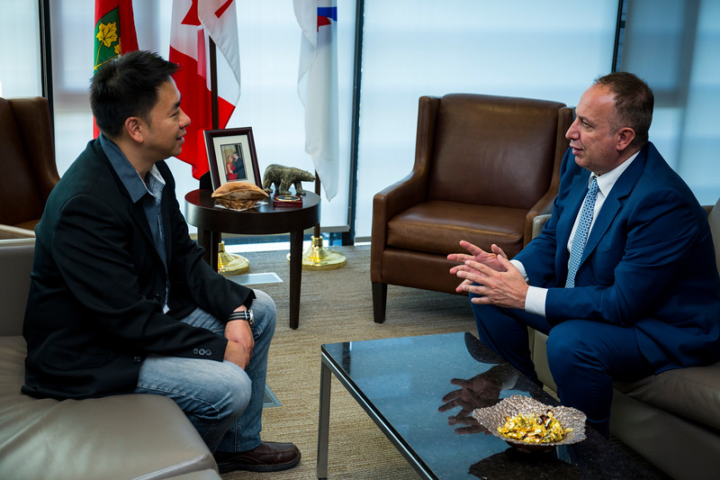meeting with the Mayor Maurizio Bevilacqua, City of Vaughan