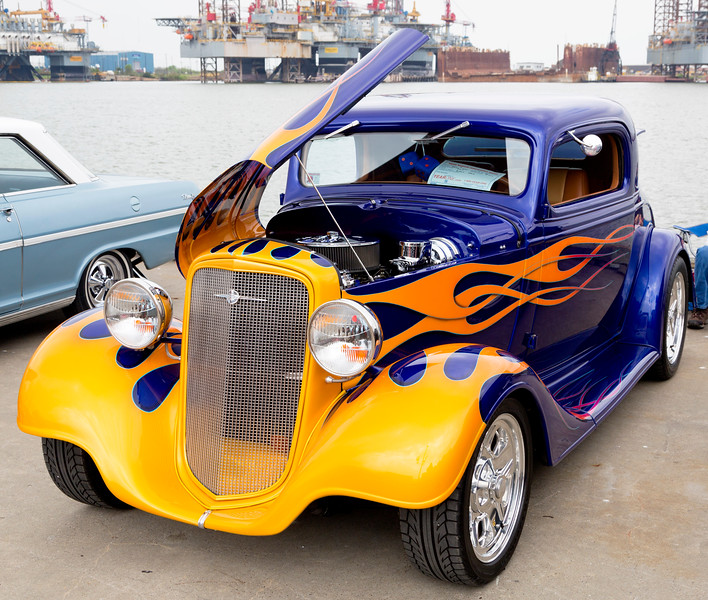 Here's a nice Hot Rod -- a cut down 1935 Chevrolet.