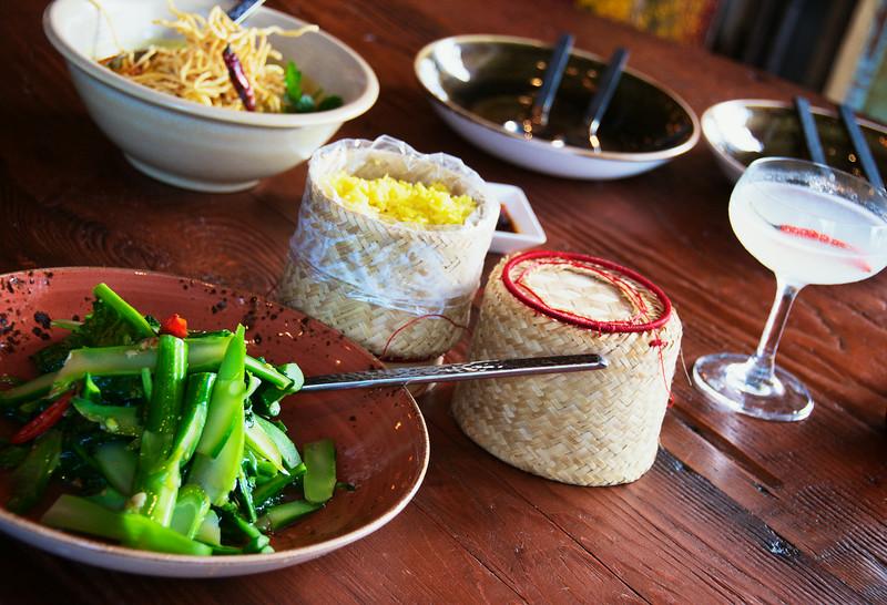 Stir Fried Broccoli & Yellow Rice