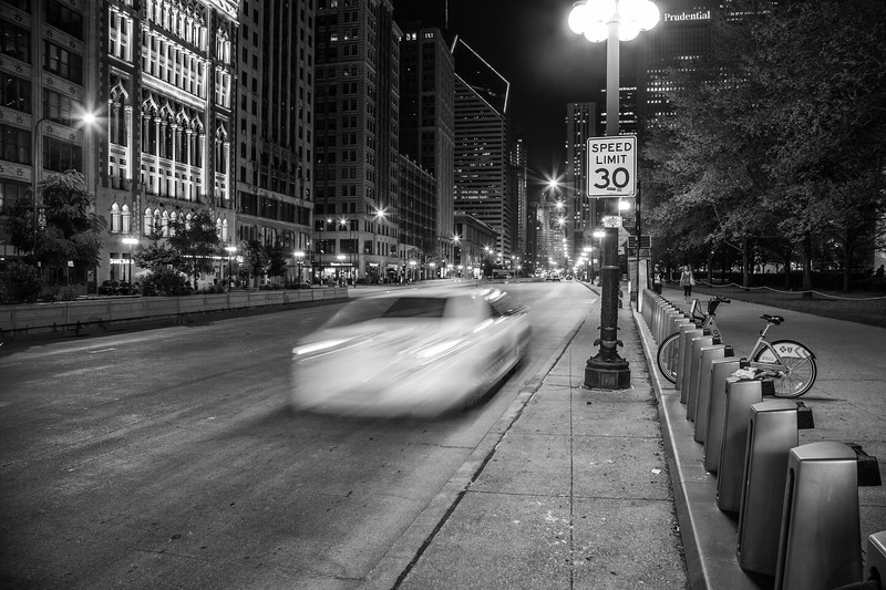 Michigan Avenue at Night