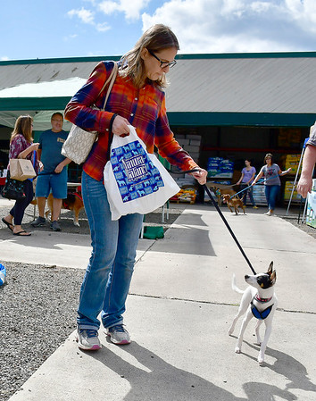 9/7/2019 Mike Orazzi | StaffrLorrie Sulk with her pet Emmy during the 2nd annual Support Help Willy's Friends held at myAGWAY of Southington on Saturday.