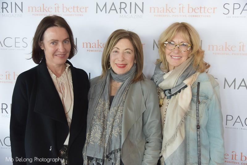 Margaret O'Leary, Bonnie Dahain and Joan Barnes