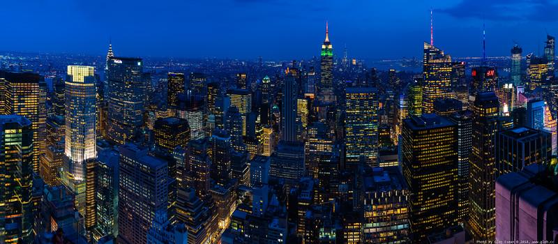 High Resolution of New York Skyline at Night