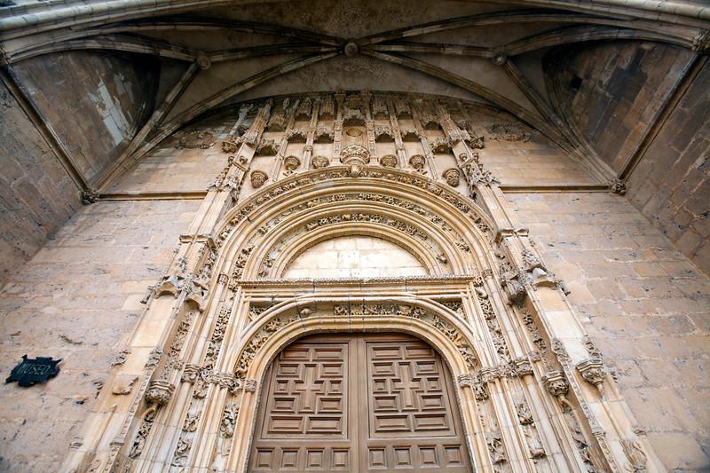 Detail of the facade, Hotel San Marcos, former hostel for pilgrims, town of Leon, autonomous community of Castilla y Leon, northern Spain