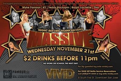 """MASSIVE"" Night Before Thanksgiving"" @ VIVID 11.21.07"