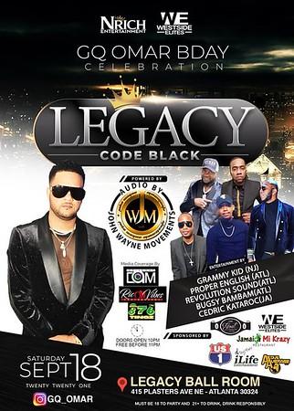 LEGACY CODE BLACK GQ OMAR BIRTHDAY CELEBRATION 2021