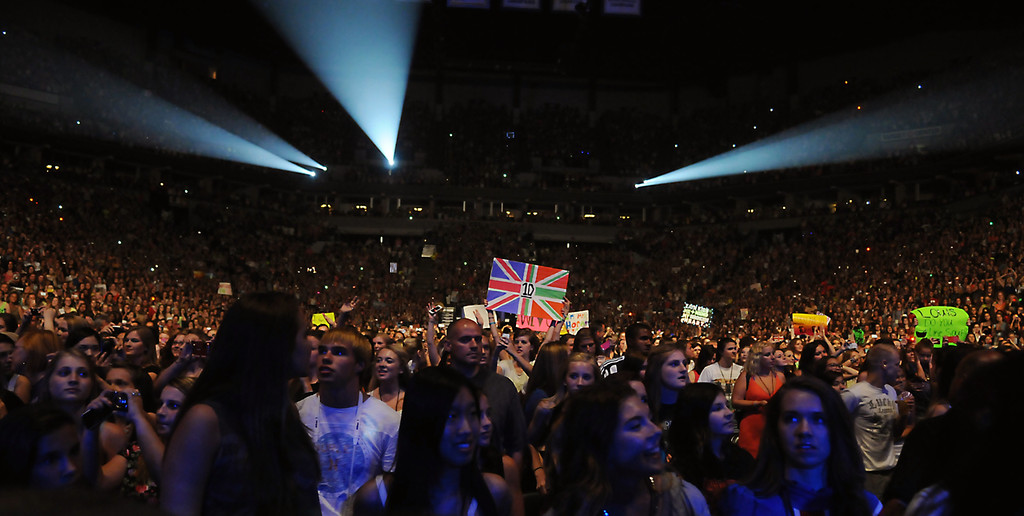. It was a sold out show for the One Direction concert at the Target Center, in Minneapolis, Thursday, July 18, 2013.  (Pioneer Press: John Autey)