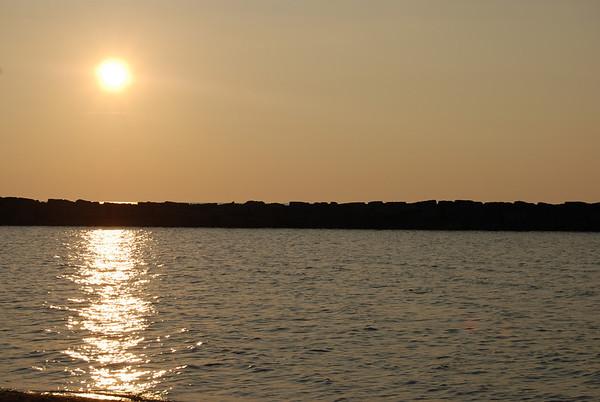Conneaut Ohio Beach Sunset