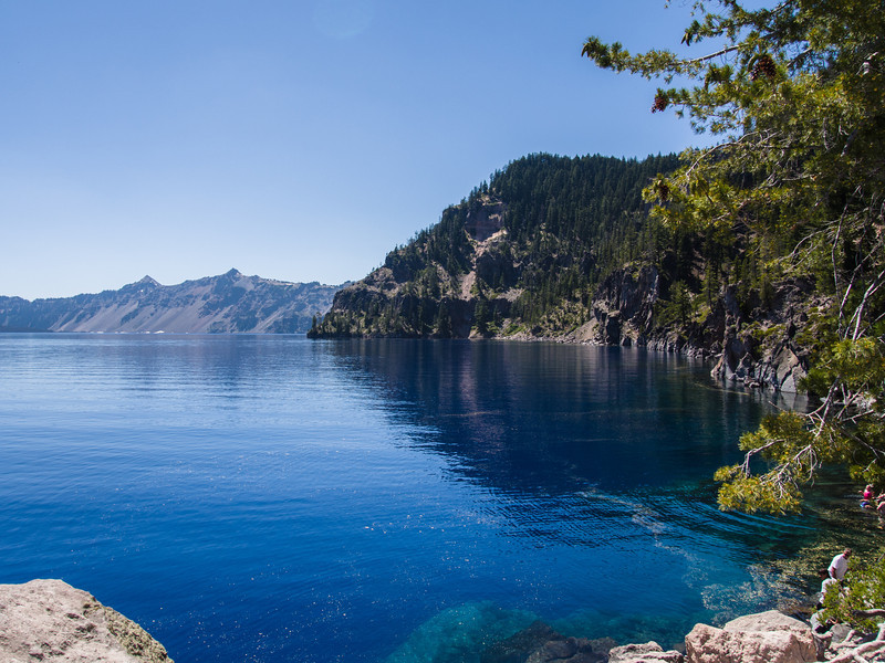 View of Crater Lake from the shore