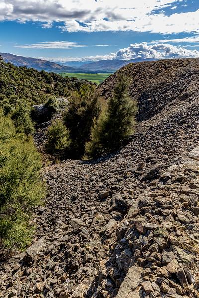 Goldmine Bendigo: Berge von Aushubmaterial