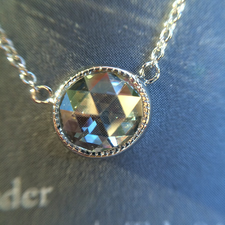 .67ct Rose Cut Diamond Bezel Pendant with milgrain
