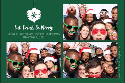Rockville Town Square Holiday Party Photo Booth 2016