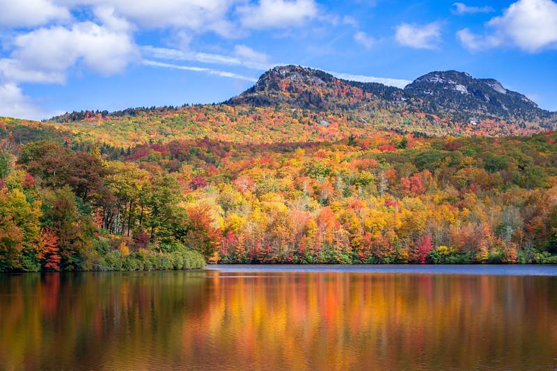 Grandfather Lake in Fall Sun