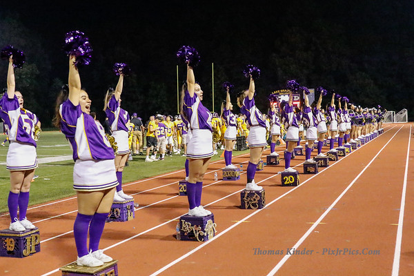 Cheer at Yorktown Football Game 9/21/18