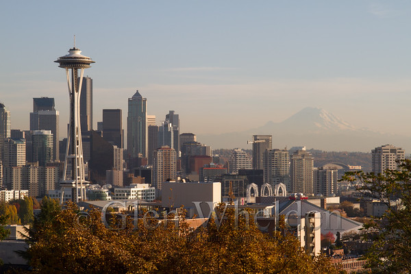 Skyline of Seattle, WA from Kelly Park   (Wide aspect for different sizes)