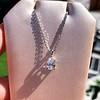 1.11ct Pear Shape Diamond Pendant GIA E VVS2 22