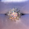 2.87ctw old European Cut Diamond Spray Ring GIA J SI1 15