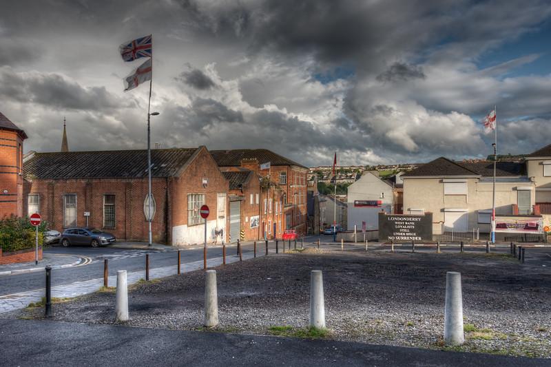 Hawkin St - Derry, Northern Ireland, UK - August 17, 2017
