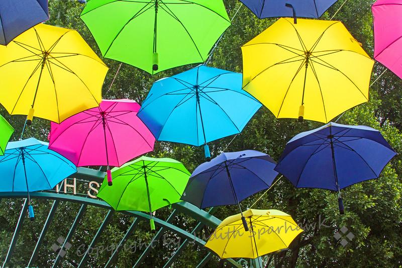 Umbrellas at the Gate
