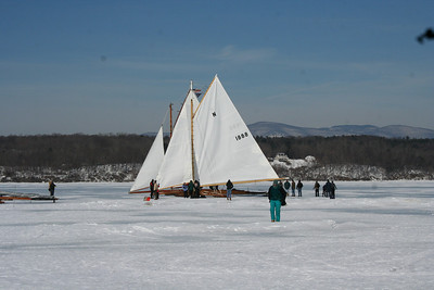 Ice Boating On Hudson River --Rocket Take Off
