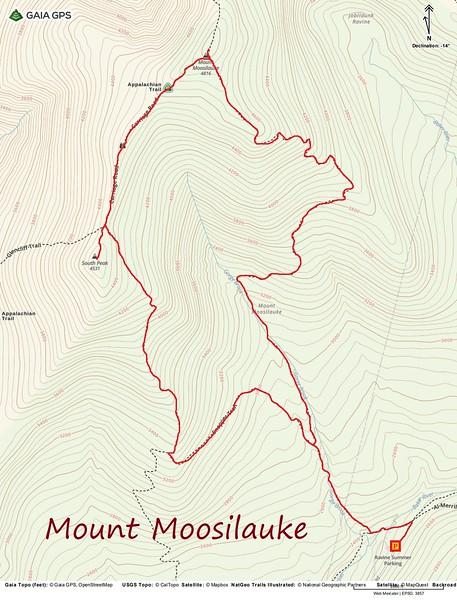 Mount Moosilauke Hike Route Map