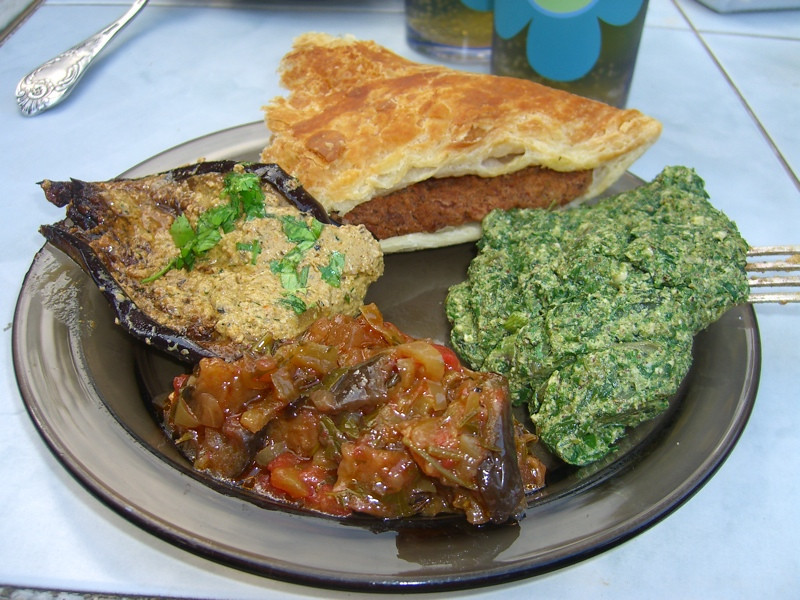 Lobiani, Badrijan, Pkhali and Ratatouille - Tbilisi, Georgia