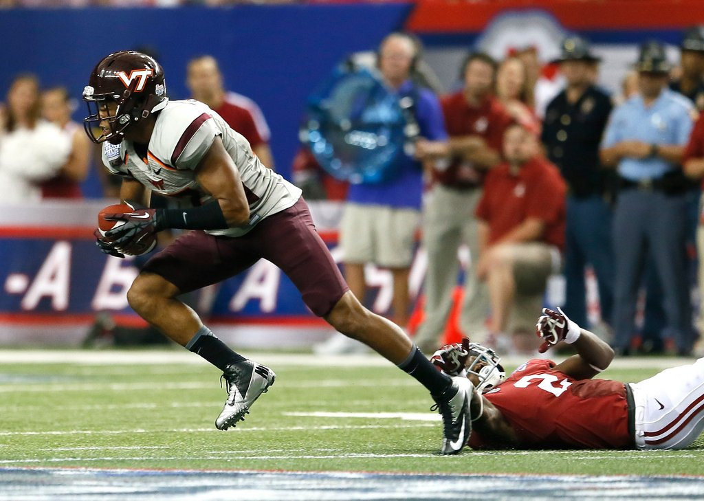 . <p><b>24. Cincinnati: Kyle Fuller, CB, Virginia Tech. </b> <p>The Baltimore native once played in the Maryland Crab Bowl, but he steals passes, not crab.   (Kevin C. Cox/Getty Images)