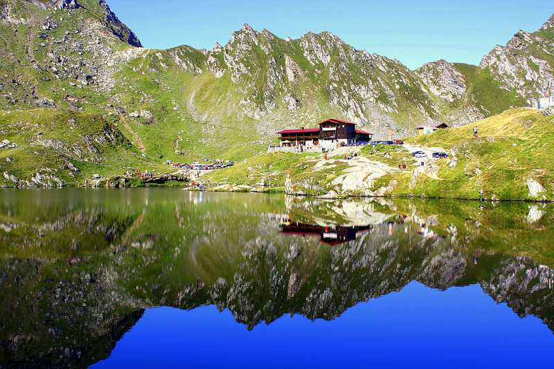 Balea Lake, Transfagares Mountains, Romania