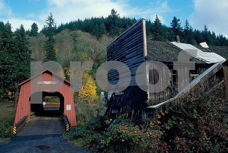 Chitwood covered bridge in Oregon Coast Range. 2