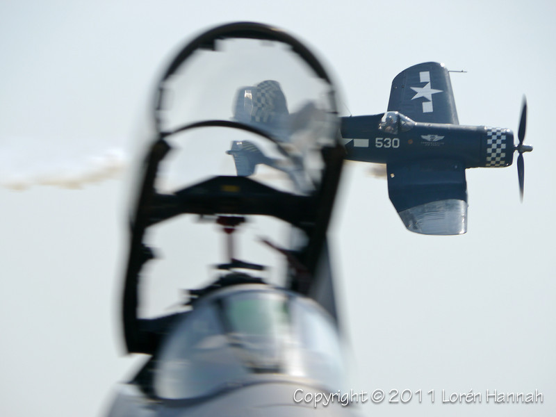 1943 Goodyear FG-1D Corsair, N9964Z (Could you park that JET someplace ELSE??? LOL)