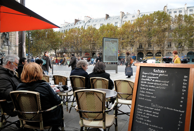 Outdoor cafe, the left bank.
